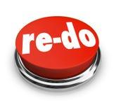 przerabia Czerwonego guzika Redo zmiana przeglądu ulepszenie Obrazy Stock