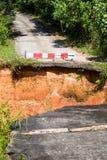 Przerwa asfaltowa droga w Tajlandia Zdjęcie Stock