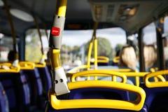 Przerwa autobusowy Guzik Fotografia Royalty Free