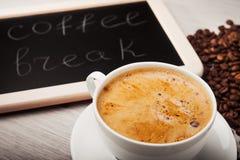 Przerwa dla filiżanki kawy Fotografia Stock