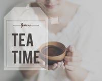 Przerwa Herbaciany Kawowy czas Relaksuje pojęcie Fotografia Royalty Free