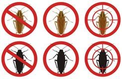 Przerwa karakanu znaki Set insekt zarazy kontrola znaki również zwrócić corel ilustracji wektora Fotografia Royalty Free