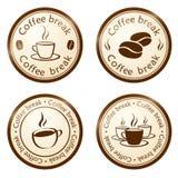 Przerwa kawowy znaczek Fotografia Stock