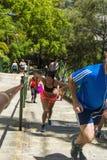Przerwa na lunch biegaczów Midday słońce Fotografia Stock