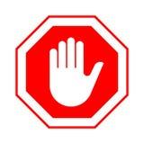 Przerwa no wchodzić do przerwy czerwieni znaka z ręką Obraz Royalty Free