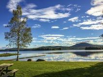 Przerwa przy jeziorem obraz royalty free