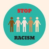 Przerwa rasizmu ikony plakat royalty ilustracja