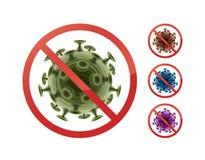 Przerwa znak na bakteriach ilustracji