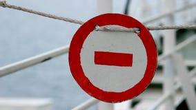 Przerwa znaka statek zdjęcie wideo