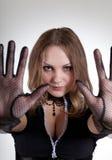 przerwy atrakcyjna robi szyldowa kobieta Obraz Royalty Free