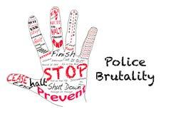 Przerwy brutalność policji royalty ilustracja