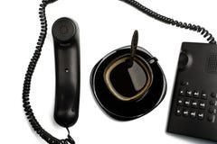 przerwy callcenter kawa zdjęcia stock