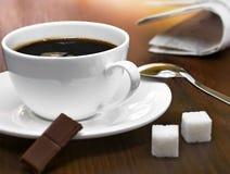 przerwy kawy gazeta Fotografia Stock