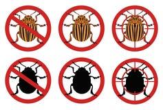 Przerwy Kolorado ścigi znaki Zarazy kontrola również zwrócić corel ilustracji wektora Fotografia Royalty Free