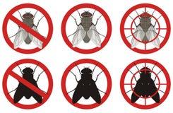 Przerwy komarnicy znaki Setów znaki zarazy kontrola również zwrócić corel ilustracji wektora Zdjęcia Royalty Free
