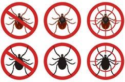Przerwy lądzieniec znaki Set insekt zarazy kontrola znaki również zwrócić corel ilustracji wektora Obrazy Stock