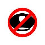 Przerwy policja Milicyjna nakrętka Zabraniający znak Zakazu policjant royalty ilustracja