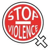 Przerwy przemoc przeciw kobietom Czerwona ikona Zdjęcie Royalty Free