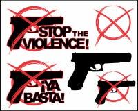 przerwy przemoc Set 3 ilustracja wektor
