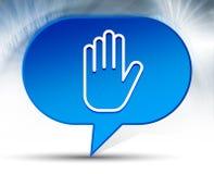 Przerwy ręki ikony bąbla błękitny tło ilustracja wektor