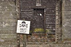 PRZERWY signboard Auschwitz Zdjęcie Royalty Free