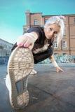 przerwy tancerza dziewczyna Zdjęcia Stock