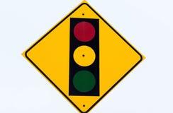 Przerwy światła znak Zdjęcia Stock