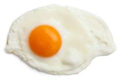 Przerzedżę smażył jajko odizolowywającego Fotografia Royalty Free