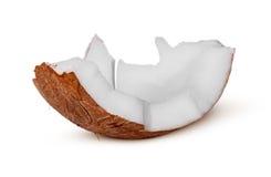 Przerzedże kawałek kokosowa braja fotografia stock
