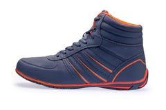 Przerzedże wysokość wierzchołka mody błękita sneakers obrazy stock