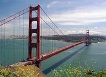 przerzuca most bramę złotą Obraz Royalty Free