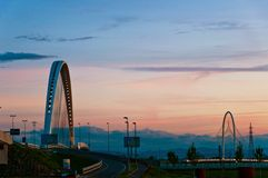 przerzuca most calatrava półmroku Emilia Italy reggio Zdjęcia Stock