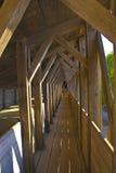 przerzuca most drewnianego Obrazy Royalty Free