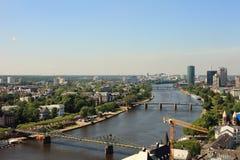 przerzuca most Frankfurt Obrazy Stock
