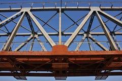 przerzuca most kolejową stal Zdjęcie Royalty Free