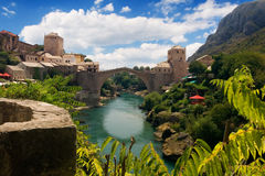 przerzuca most Mostar starego Zdjęcia Royalty Free