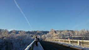 Przerzuca most śnieg Zdjęcia Stock