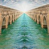 przerzuca most pojęcie nieskończonego fotografia stock