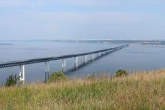 przerzuca most robić wizerunki blisko drogowego Russia rzhev miasteczka Fotografia Stock