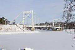 przerzuca most robić wizerunki blisko drogowego Russia rzhev miasteczka Obraz Stock