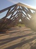 Przerzuca most w lasów condes w Santiago Chile obraz royalty free