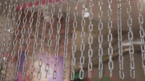 Przesłona błyszczący łańcuchy w pokoju zbiory