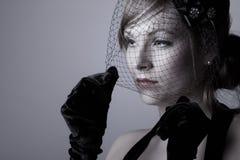 przesłony atrakcyjna kobieta obraz royalty free