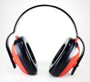 Przesłuchanie ochrony earmuffs Obrazy Stock
