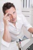 Przesadni żądania przy pracą - burnout Fotografia Royalty Free