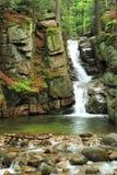 Przesieka waterfall. Beautiful and not famous waterfall in Przesieka village in Poland Stock Image