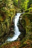 Przesieka waterfall. Beautiful and not famous waterfall in Przesieka village in Poland Royalty Free Stock Photo