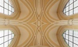Przesklepiony sufit w katedrze wniebowzięcie Nasz święty i dama zdjęcie royalty free