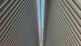 Przesklepiony sufit w Oculus, Miasto Nowy Jork zdjęcie royalty free