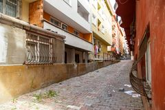 Przesmyk brudne ulicy Istanbuł zdjęcia royalty free